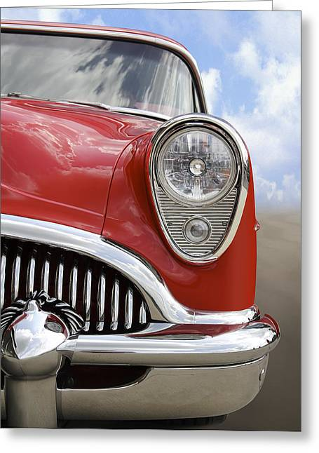 Chrome Greeting Cards - Sitting Pretty - Buick Greeting Card by Mike McGlothlen