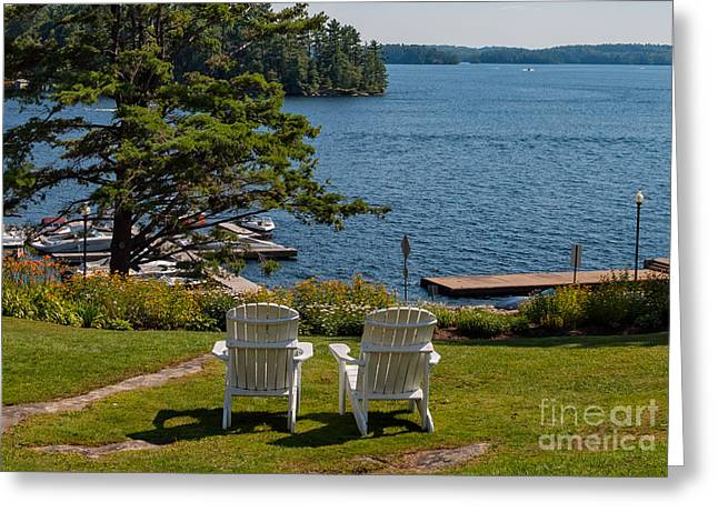 Recently Sold -  - Lawn Chair Greeting Cards - Sitting pretty Greeting Card by Les Palenik