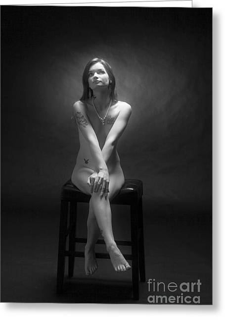 Female Greeting Cards - Sitting Proper Greeting Card by Kendree Miller