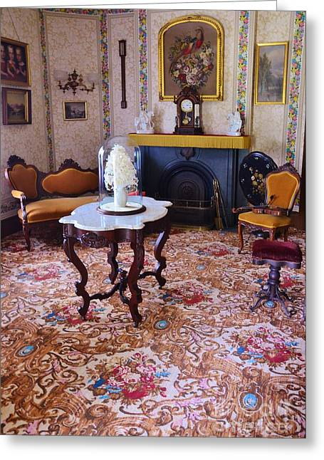 Marble Top Table Greeting Cards - Sitting Room Greeting Card by Kathleen Struckle