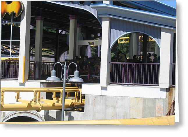 Bat Greeting Cards - Six Flags America - Batwing Roller Coaster - 12121 Greeting Card by DC Photographer