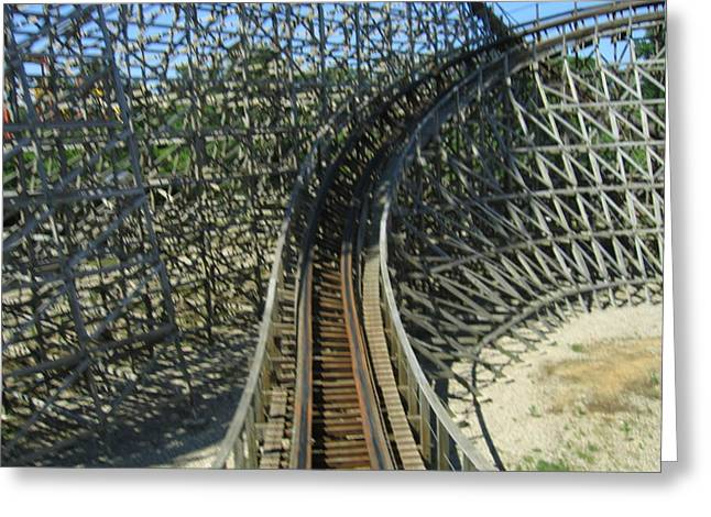 Sixflags Greeting Cards - Six Flags America - Roar Roller Coaster - 12125 Greeting Card by DC Photographer