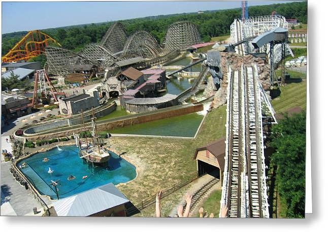 Coaster Greeting Cards - Six Flags America - Wild One Roller Coaster - 12124 Greeting Card by DC Photographer
