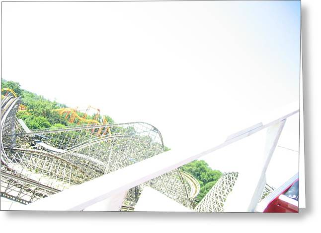 One Photographs Greeting Cards - Six Flags America - Wild One Roller Coaster - 12126 Greeting Card by DC Photographer