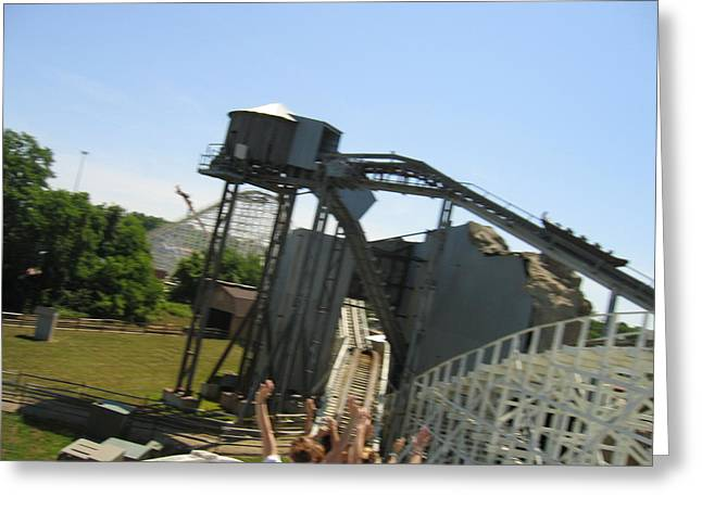 America Greeting Cards - Six Flags America - Wild One Roller Coaster - 12128 Greeting Card by DC Photographer