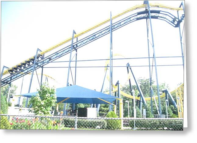 Sixflags Greeting Cards - Six Flags Great Adventure - 12121 Greeting Card by DC Photographer