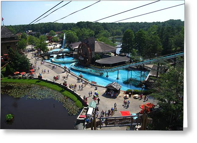 Sixflags Greeting Cards - Six Flags Great Adventure - 121213 Greeting Card by DC Photographer