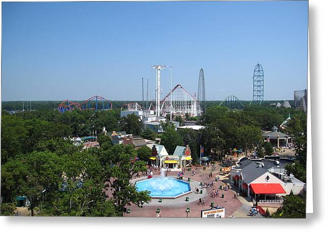 Six Flags Great Adventure - 12123 Greeting Card by DC Photographer