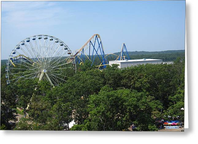 Great Photographs Greeting Cards - Six Flags Great Adventure - 12127 Greeting Card by DC Photographer