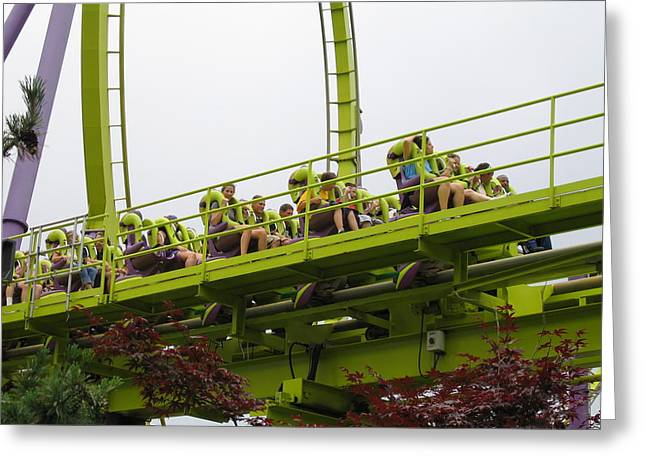 Medusa Greeting Cards - Six Flags Great Adventure - Medusa Roller Coaster - 12121 Greeting Card by DC Photographer