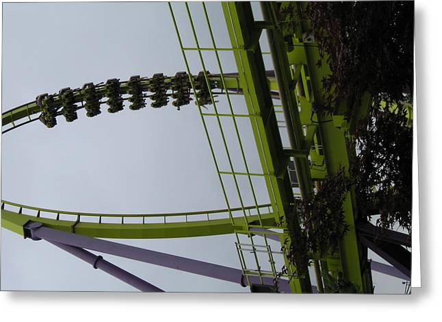 Six Flags Great Adventure - Medusa Roller Coaster - 12122 Greeting Card by DC Photographer