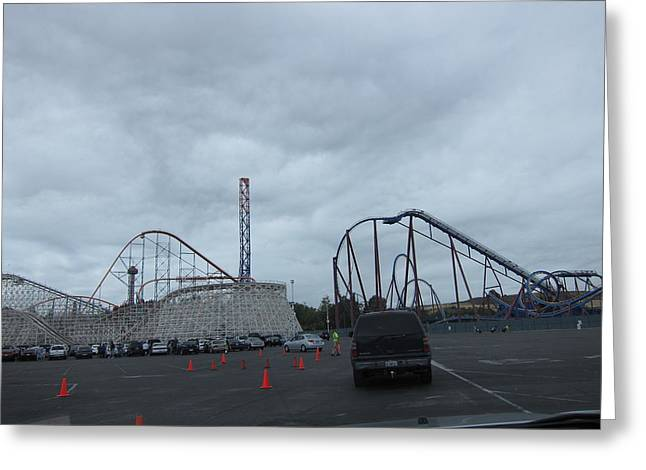 Six Flags Magic Mountain - 12121 Greeting Card by DC Photographer