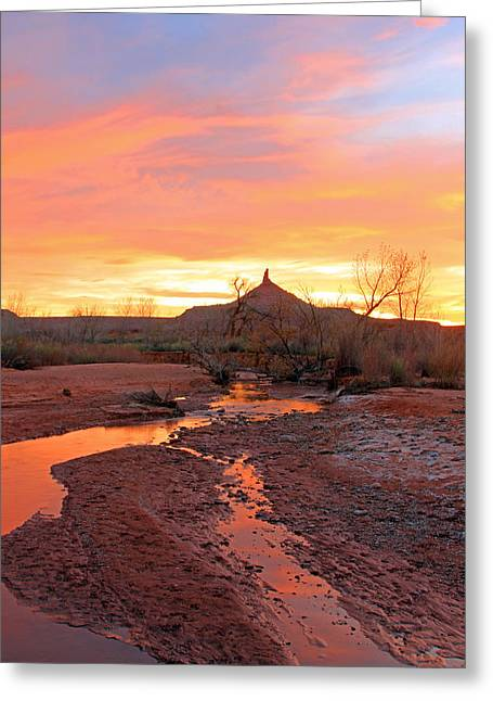 Southern Utah Greeting Cards - Six shooter peak and Indian creek Greeting Card by Johnny Adolphson