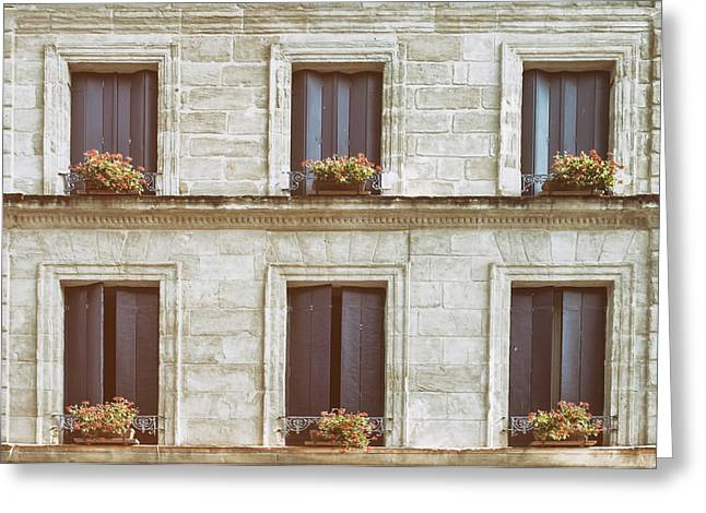 Ledge Greeting Cards - Six Windows Greeting Card by Nomad Art And  Design