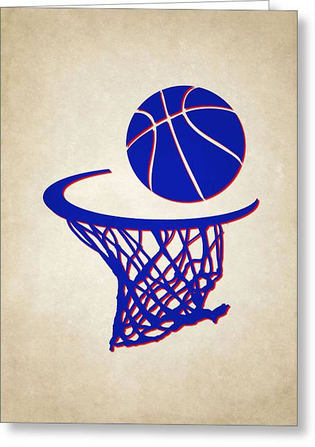 76ers Greeting Cards - Sixers Team Hoop2 Greeting Card by Joe Hamilton