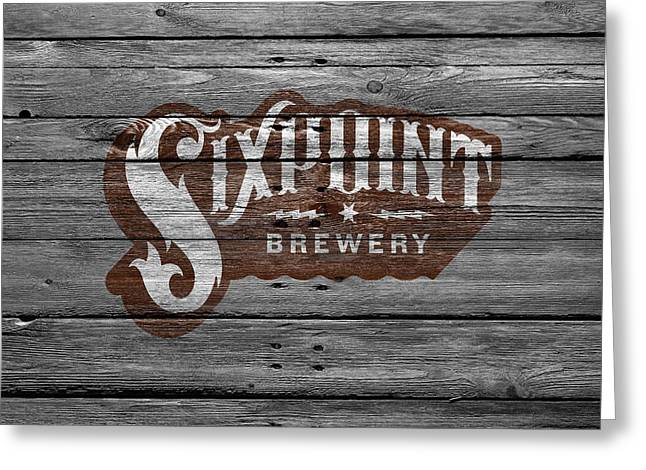 Saloons Greeting Cards - Sixpoint Brewery Greeting Card by Joe Hamilton