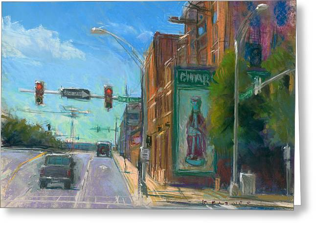 Charlotte Pastels Greeting Cards - Sixth and Graham Greeting Card by Greg Barnes