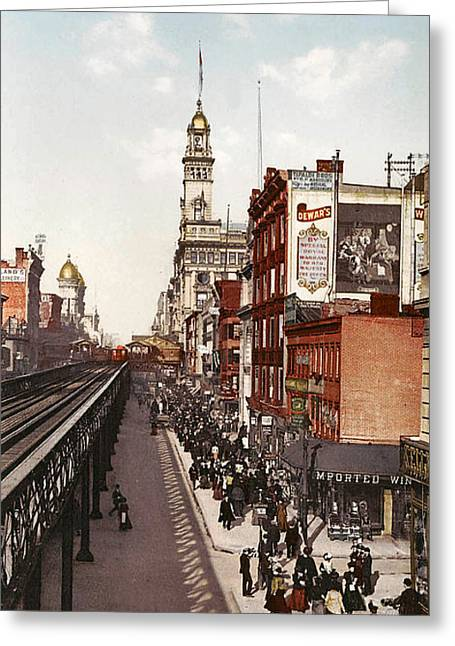 Sixth Greeting Cards - Sixth Avenue New York Greeting Card by Unknown