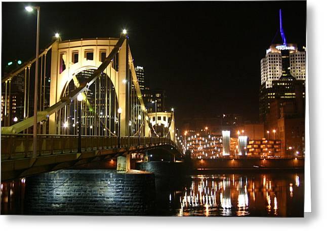 Sixth Street Bridge Greeting Card by Sandy Fraser