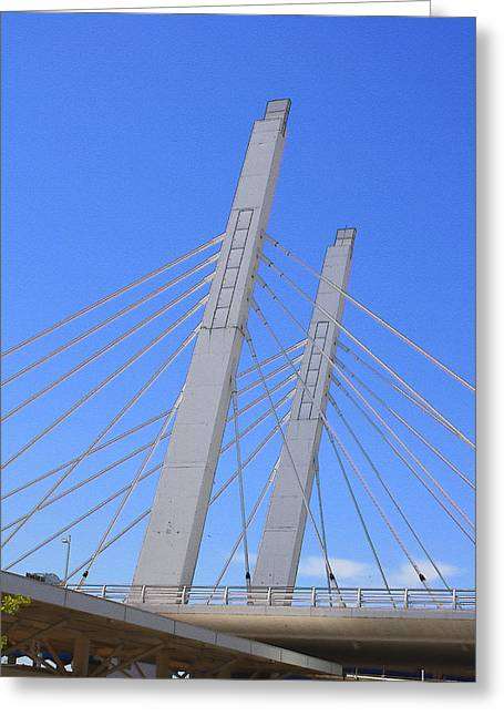 Sixth Street Viaduct Greeting Card by Geoff Strehlow