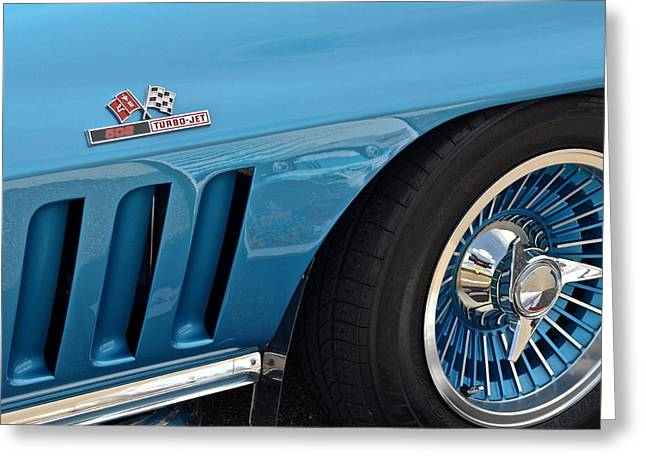 Bitchin Greeting Cards - Sixty Six Corvette Roadster Greeting Card by Frozen in Time Fine Art Photography