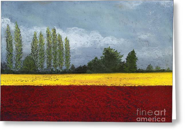 Mt Pastels Greeting Cards - Skagit Colors  Greeting Card by Ginny Neece