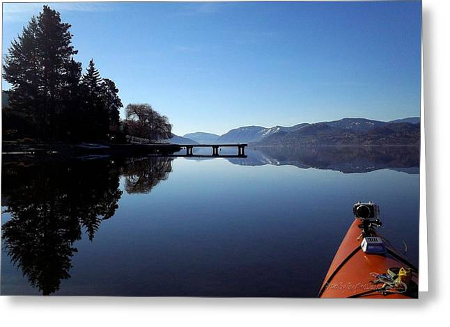Penticton Greeting Cards - Skaha Lake Calm 2 Greeting Card by Guy Hoffman