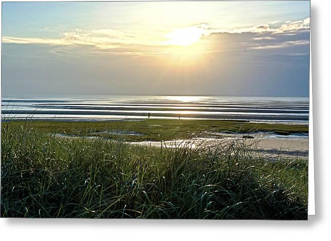 Matt Owen Greeting Cards - Skaket Beach Sunset Greeting Card by Matt Owen