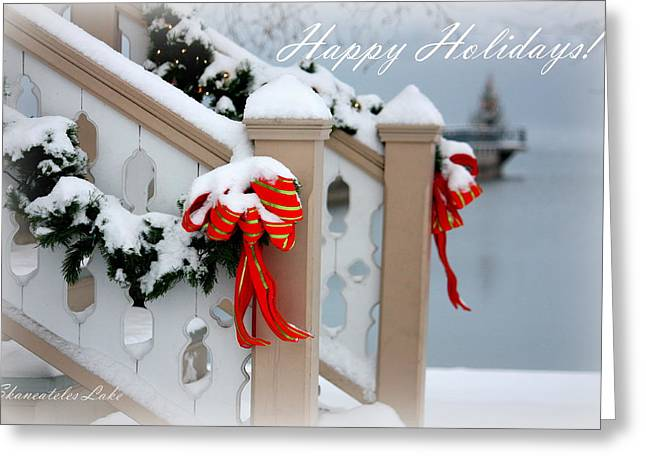 Skaneateles Greeting Cards - Skaneateles Holiday Card Greeting Card by Michael Carter of Front 9 Images