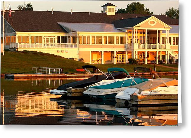 Wine Tour Greeting Cards - Skaneateles Lake Country Club Greeting Card by Michael Carter