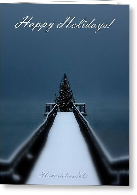 Skaneateles Greeting Cards - Skaneateles Lake Holiday Card Greeting Card by Michael Carter