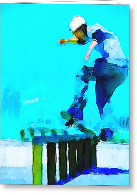 Stadium Design Digital Greeting Cards - Skate Board City 2 Greeting Card by Yury Malkov