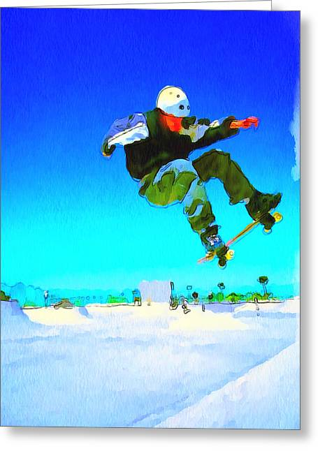 Stadium Design Digital Greeting Cards - Skate Board City 3 Greeting Card by Yury Malkov