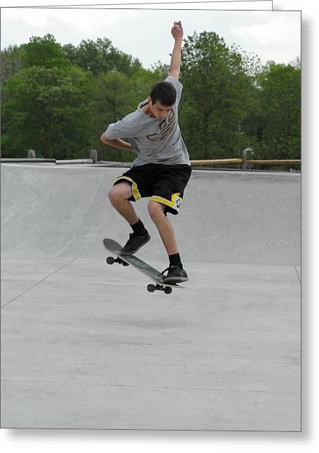Grip Tape Greeting Cards - Skateboarding 1 Greeting Card by Joyce StJames