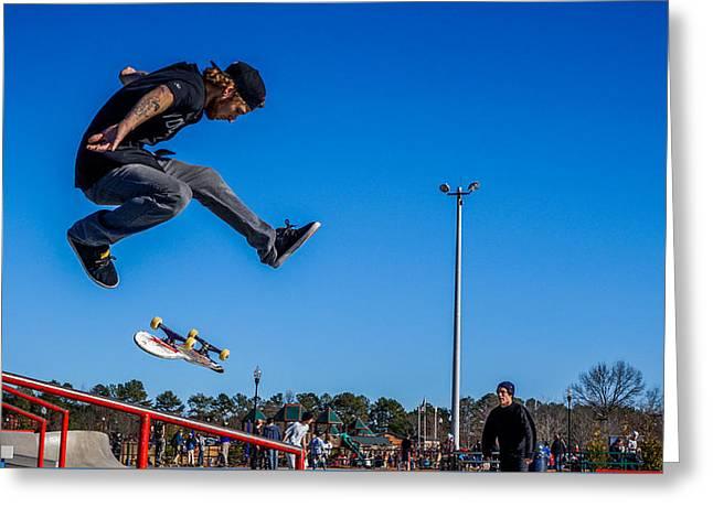 Ocean Art Photography Greeting Cards - Skateboarding #1 Greeting Card by Keegan Hall