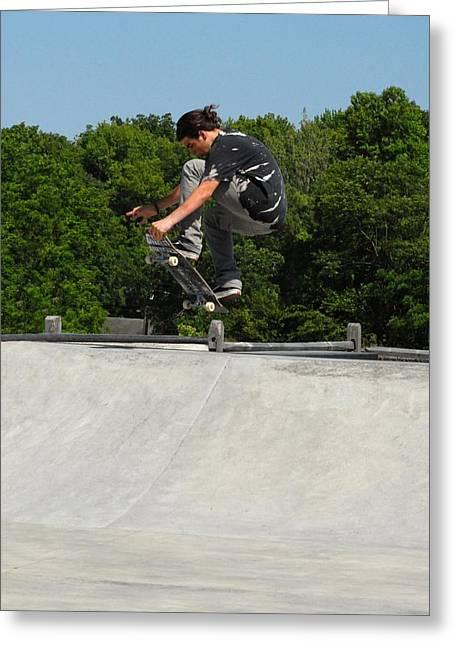 Grip Tape Greeting Cards - Skateboarding 10 Greeting Card by Joyce StJames