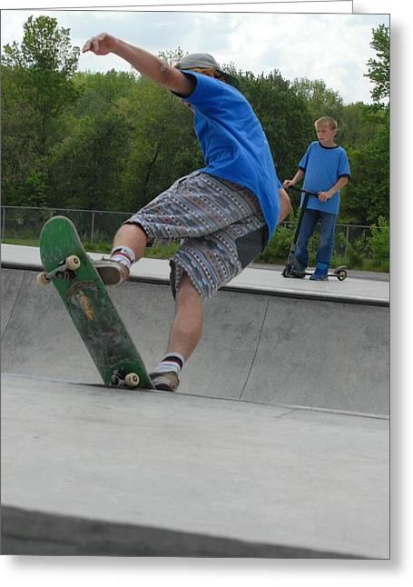 Grip Tape Greeting Cards - Skateboarding 11 Greeting Card by Joyce StJames