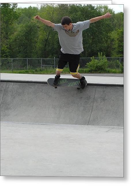 Grip Tape Greeting Cards - Skateboarding 13 Greeting Card by Joyce StJames