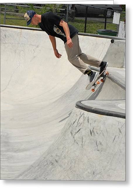 Grip Tape Greeting Cards - Skateboarding 14 Greeting Card by Joyce StJames