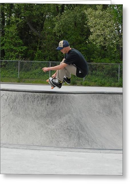 Grip Tape Greeting Cards - Skateboarding 4 Greeting Card by Joyce StJames