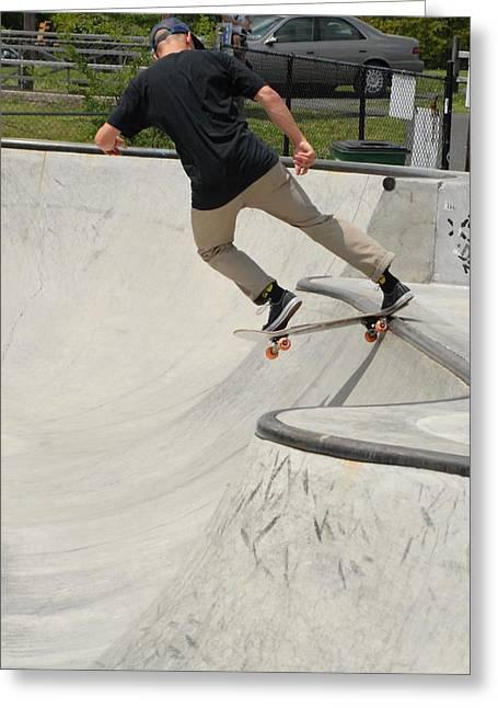 Grip Tape Greeting Cards - Skateboarding 5 Greeting Card by Joyce StJames