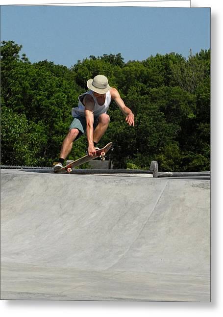 Grip Tape Greeting Cards - Skateboarding 7 Greeting Card by Joyce StJames