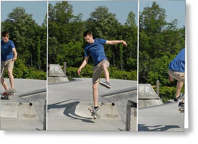 Grip Tape Greeting Cards - Skateboarding 8 Greeting Card by Joyce StJames