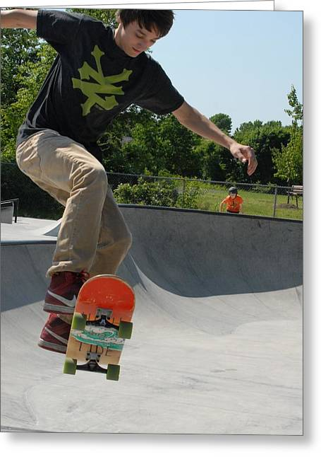 Grip Tape Greeting Cards - Skateboarding 9 Greeting Card by Joyce StJames