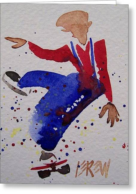 Action Sports Drawings Greeting Cards - Skater Balance Greeting Card by Larry Lerew
