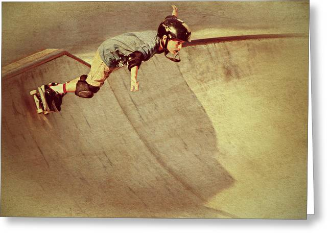 Skate Board Boarding Boarder Skateboarding Greeting Cards - Skater Kid Greeting Card by See My  Photos