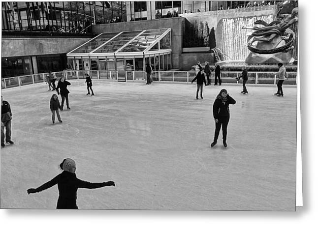 Staples Center Greeting Cards - Skating In New York City Greeting Card by Dan Sproul