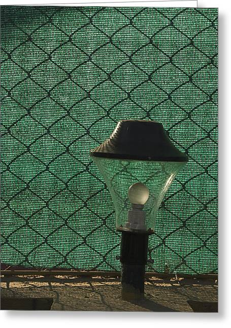 Meshed Photographs Greeting Cards - SKC 5518 A Lamp Shade Greeting Card by Sunil Kapadia