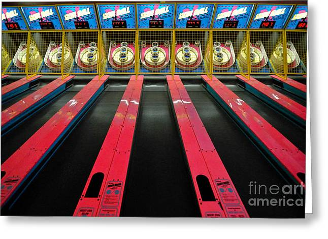 Win Greeting Cards - Skee Ball Game at Kennywood Amusement Park Greeting Card by Amy Cicconi
