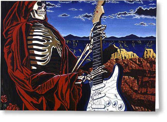 Skeleton Dream Greeting Card by GARY KROMAN